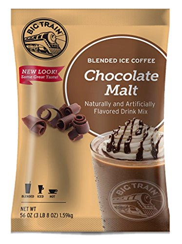 - Big Train Blended Ice Coffee, Chocolate Malt, 3.5 Pound, Powdered Instant Coffee Drink Mix, Serve Hot or Cold, Makes Blended Frappe Drinks