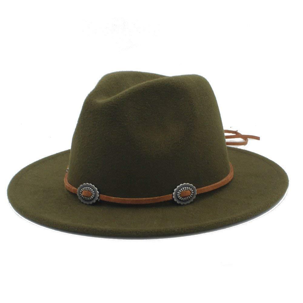 ZoraQ Frauen Männer Panama Fedora Hut mit Wildleder Slouch Style Mütze