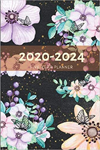 5 Year Planner 2020-2024 Floral Butterflies Five Years ...