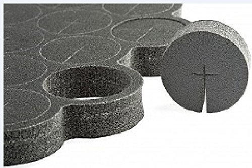 EZ-Clone Hard Cloning Collars, Black, pack of 65 ()