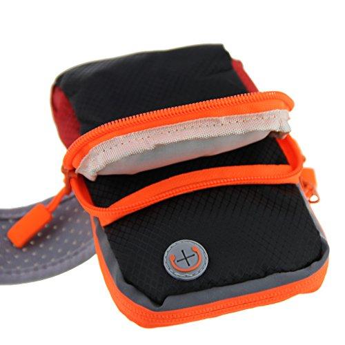 FakeFace Neu Unisex Armtasche Armband Tasche Oberarmtasche Schweißbänder Sport Tasche Geldbeutel Neopren für Sport Running Trekking HikingArmtasche Schwarz Blau Rot Grau Schwarz