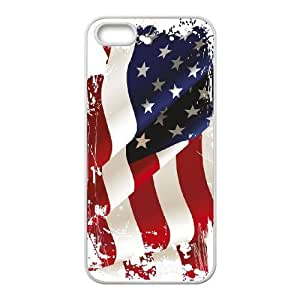 lintao diy Hard Case for iPhone 5,5S ,Customized case Of American Retro Flag