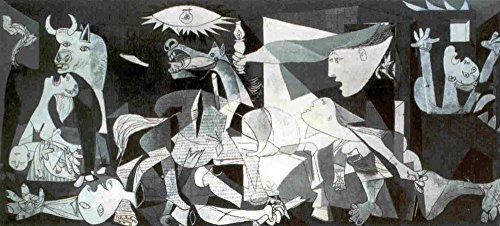 Close Up Lamina/Impresion de Arte de Pablo Picasso - Guernica (100cm x 50
