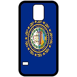 New Hampshire NH State Flag Black Samsung Galaxy S5 Cell Phone Case - Cover