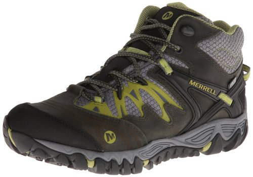 UPC 018465415758, Merrell Women's All Out Blaze Mid Waterproof Hiking Boot,Charcoal/Moss,11 M US