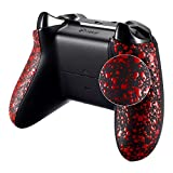 eXtremeRate Textured Red Back Panels, Comfortable Non-slip Side Rails, 3D Splashing Handles, Game Improvement Replacement Parts for Microsoft Xbox One X & One S Controller Review