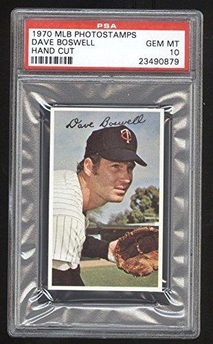 1970 MLB Photostamps Dave Boswell 10 GEM MINT Cert #23490879 POP 1/2 Graded - PSA/DNA Certified - Baseball Slabbed Autographed Vintage (Cert Gem)