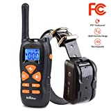 HICOBOS Dog Training Collar with Remote Shock Trainer 1800ft Rechargeable IP67 Waterproof, 1-100 Level 12S Smart Protection, Through-wall Tech, 30 Day Standby & Effective Tone Vibration Electric Shock