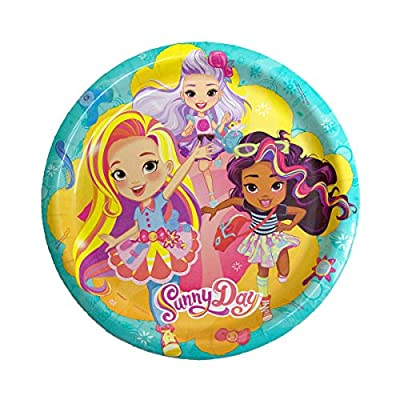 Unique Sunny Day Birthday Party Supplies and Decorations | Dinner and Dessert Paper Plates, Luncheon Paper Napkins and Table Cover: Toys & Games