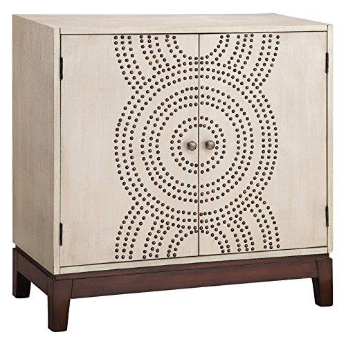 Stein World Furniture 2-Door Cabinet, Black, Cream, Gold