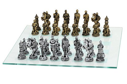 【25%OFF】 Medieval Themed Chess Medieval Set with Gold Gold and Silver Chessmen and B06XQ4HMRK, 美容 健康 便利グッズのリピタウン:8568ad79 --- nicolasalvioli.com