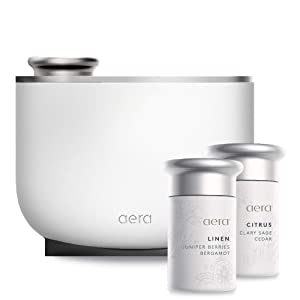 Aera Smart Fragrance Electric Diffuser, App Controlled Home Fragrance, Includes 2 Fragrance Capsules: Citrus and Linen