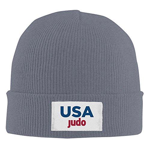 USA Judo Rio Team 2016 Acrylic Beanie Knit Hat Asphalt ()