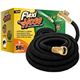 Flexi Hose Upgraded Expandable Garden Hose Extra Strength 3/4' Solid Brass Fittings - The Ultimate No-Kink Flexible…