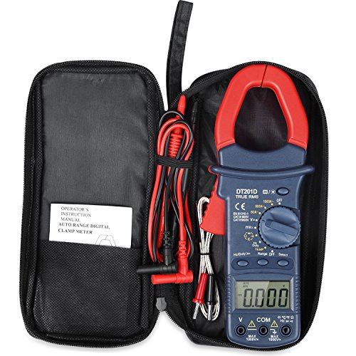 AstroAI Digital Clamp Meter, TRMS 6000 Counts Multimeter with Auto Ranging; Measures Voltage, Current, Resistance, Continuity, Capacitance, Frequency; Tests Diodes, Transistors, Temperature
