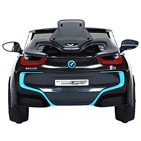 Up to 35 kg For Children 3 Years and Older Black With Remote Control Reverse Gear Up to 4 km//h ROLLPLAY Electric Car BMW i8 Concept Spyder 6-Volt Battery