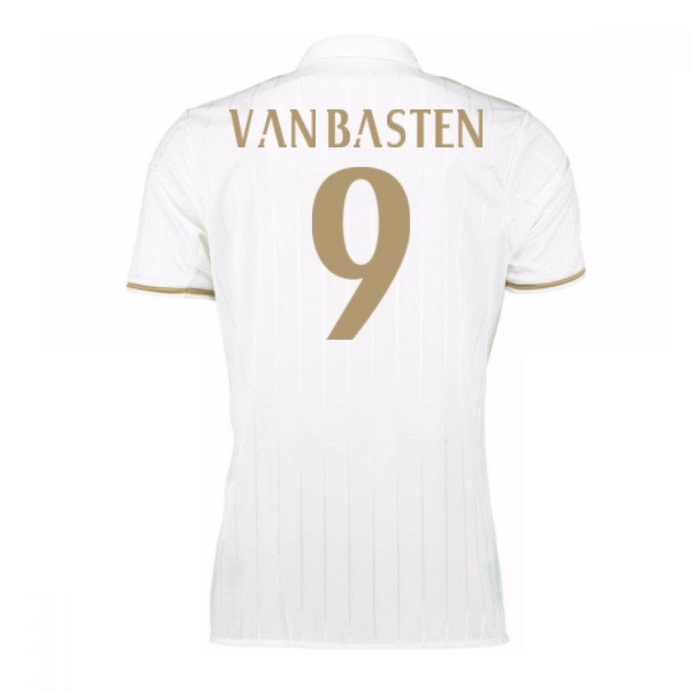 2016-17 AC Milan Away Shirt (Van Basten 9) Kids B0785S1FPQWhite Medium Boys 28-30\