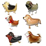6pcs Pet Dog Balloons Walking Animal Balloon Air Walkers Kids Birthday Party Decor - 6 Different kinds of Dogs