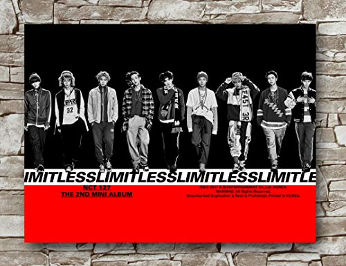 Zero.o NCT127 Poster Standard Size   18-Inches by 24-Inches   NCT 127 Limitless (The 2nd Mini Album) Posters Wall Poster Print (Limitless Album)
