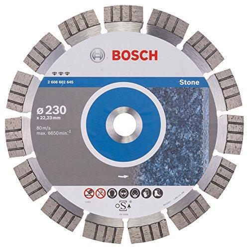 BOSCH Diamanttrennscheibe Best für Stone, 230 x 22,23 x 2,4 x 15 mm, 2608602645