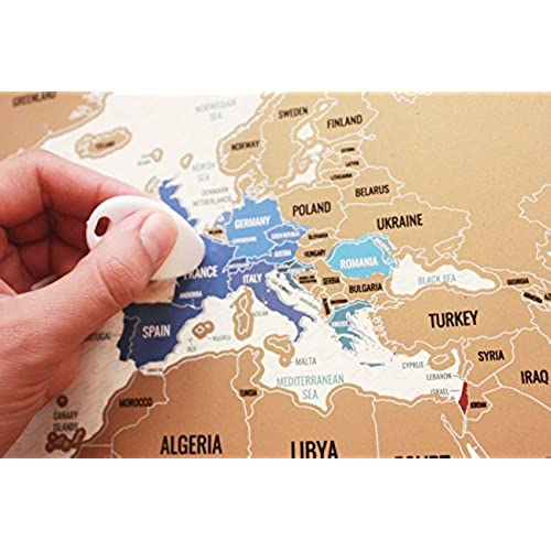 Scratch Off World Map World Travel Tracker Map Large Size Poster - Large us road map poster
