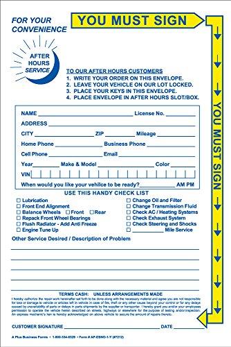 Night Drop Envelopes w/ yellow highlight (500/Box)