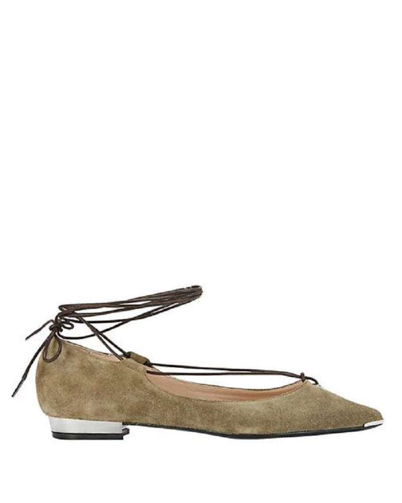 Barbara Bui Ankle Tie Suede Flats 41