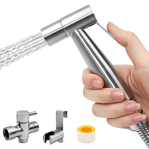 for Toilet, Hippih Handheld Bidet Sprayer, Toilet Bidet Sprayer Kit, Diaper Washer with Premium Stainless Steel ()