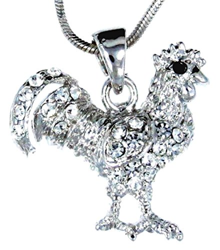 Rooster Feet Costume (Sparkleshop Chicken Rooster Pendant Charm Necklace)