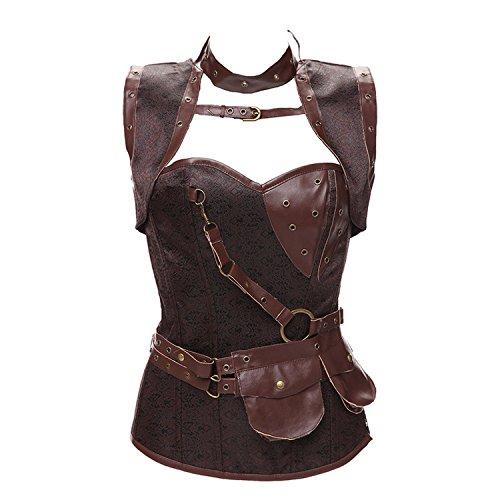 Beautface Makeup corsets Court Corset Steel Punk Waistcoat Tight Waist Plastic Waist Strap Body (60s Halloween Makeup)