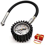TireTek Flexi-Pro Tire Pressure Gauge, Heavy Duty  Best For Car & Motorcycle - 60 PSI