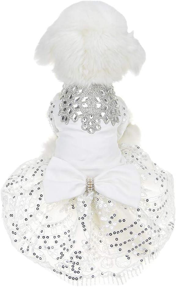 Special Occasion whitepink  Jacquard Brocade dog dress tutu  Pet Apparel Wedding Harness Pageant Flower girl