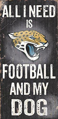 Jacksonville Jaguars Wood Sign - Football and Dog 6