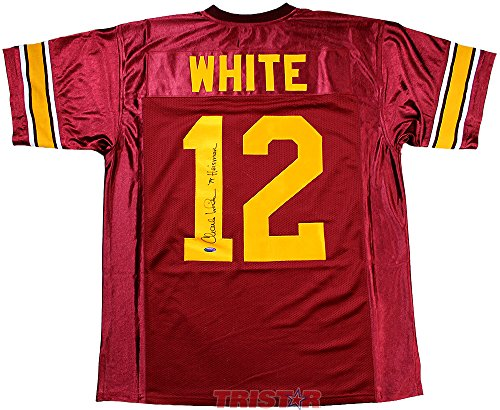 Charles White Signed Autographed USC Trojans Custom Maroon Jersey Inscribed 79 Heisman TRISTAR COA (Trojans Usc Memorabilia)