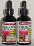 PRICKLY PEAR EXTRACT: 2-Pack (A Nopal Cactus Fruit Juice Concentrate) Sublingual Drops for Quicker Inflammation Response; 2 Bottles= 2 Month Supply