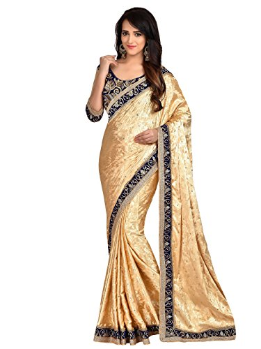 Cotton Silk Embroidered Skirt (Shonaya Women's Embroidered Jacquard Beige Designer Saree With Unstitched Blouse Piece)