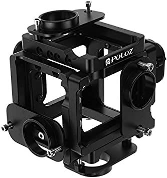 Black 6 in 1 CNC Aluminum Alloy Housing Shell Protective Cage with Screw for GoPro HERO4 //3+ XHC Metal Protective Cage Color : Black
