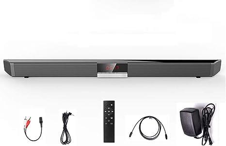 JSX Bluetooth Barra de Sonido, Altavoces 40W de Cine en casa TV Barra de Sonido del Altavoz inalámbrico Aux-In óptico coaxial de subwoofer: Amazon.es: Deportes y aire libre