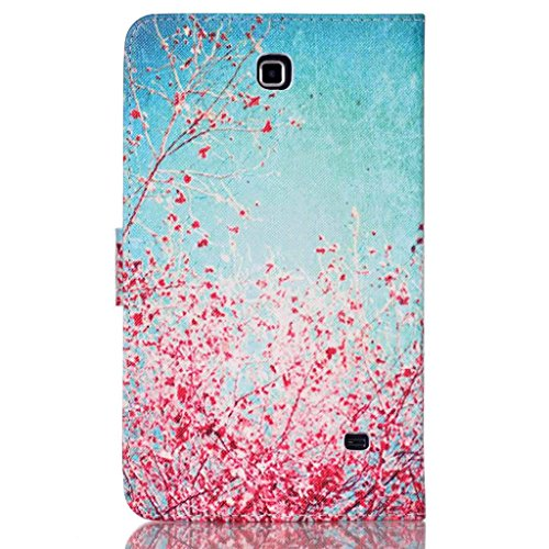 Galaxy Tab 4 7.0 Case, Tab 4 7.0 Case, Itrendz [Cute Case] Cherry Blossoms PU Leather Flip Case [Card Slot Case] [Magnetic Closure] Stand Smart Cover For Samsung Galaxy Tab 4 7.0 SM-T230NU