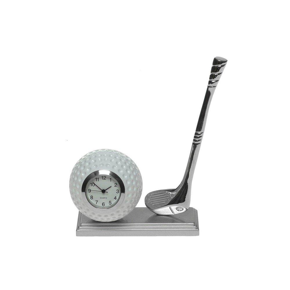 Miniature Desk Silver Golfing Desk Clock - Make A Fantastic Present For The Golfing Enthusiast Shudehill Giftware