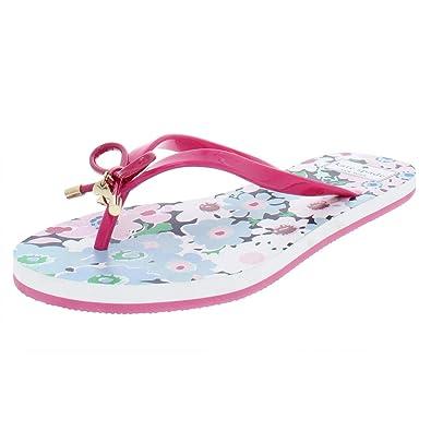 e1adbcd96acd Amazon.com  Kate Spade Womens Nova Thong Floral Print Flip-Flops Pink 8  Medium (B