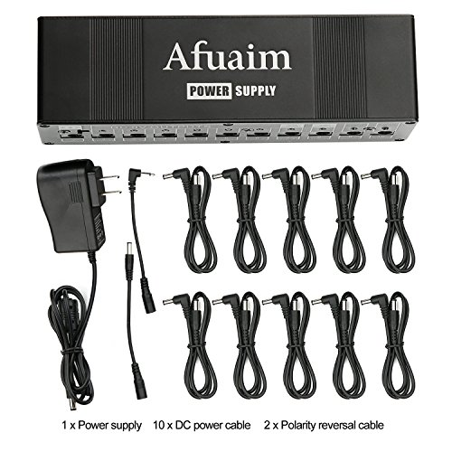 - Afuaim Power Supply for Guitar Effect Pedal Aluminium Alloy 10 Isolated DC Outputs for 9V 12V 18V Effects Pedal Board with Noise Processing Function