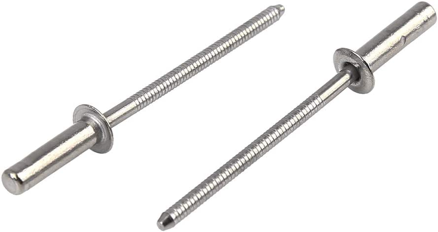 X AUTOHAUX 30pcs 3.2mm x 12mm 304 Stainless Steel Round Head Closed End Blind Rivet for Car