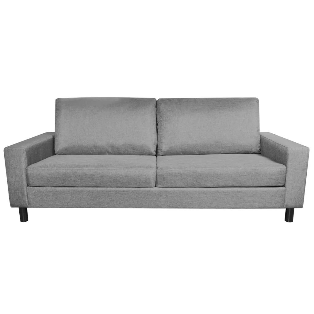 Amazon.com: Festnight 3-Seater Fabric Sofa Couch with Wooden ...