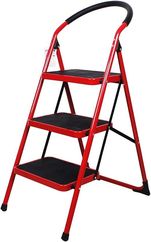 Escalera de Tijera Escalera de Tijera Plegable de Acero de 2 escalones Escalera de Tijera Plegable de Acero con empuñadura de Goma y Bandas de Deslizamiento: Amazon.es: Hogar