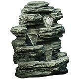 Pure Garden Cascade Rock Fountain