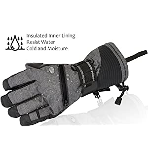 Ski Gloves, Winter Warm 3M Insulation Waterproof Snow Gloves with Free Breathable Face Mask for Men Skiing, Snowboarding, Motorcycling,Cycling, Outdoor Sports