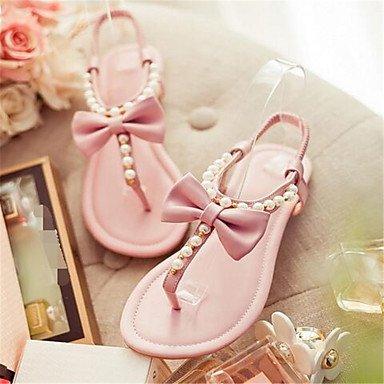 mujeres Cuña plumas Jane las Señoras rosa invierno botas Talón Sandalias de sintética Mary Casual de qvqfAty4