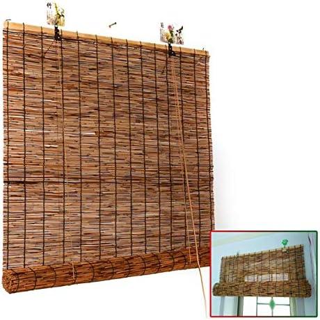 竹のカーテン|カーテン 竹|断熱シート/シェード|防水 通気性|ロールアップ式|室内用/バルコニー/間仕切り| サイズ オーダーメイド