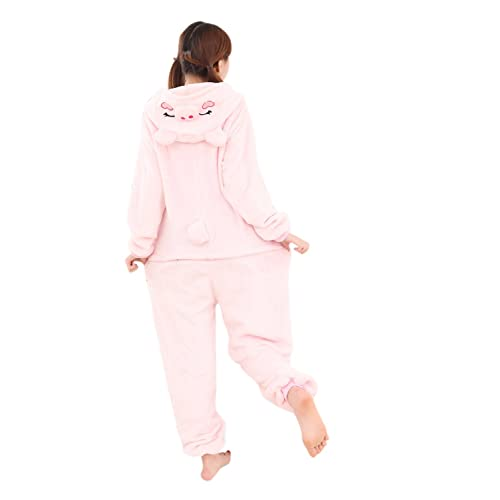 Babyonlinedress Pijama de adulto de una pieza con diseño de animal sudadera de disfraz de cartoon